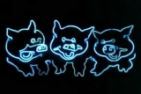 świnki neon
