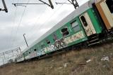 wagon zdemolowany PKP poznań