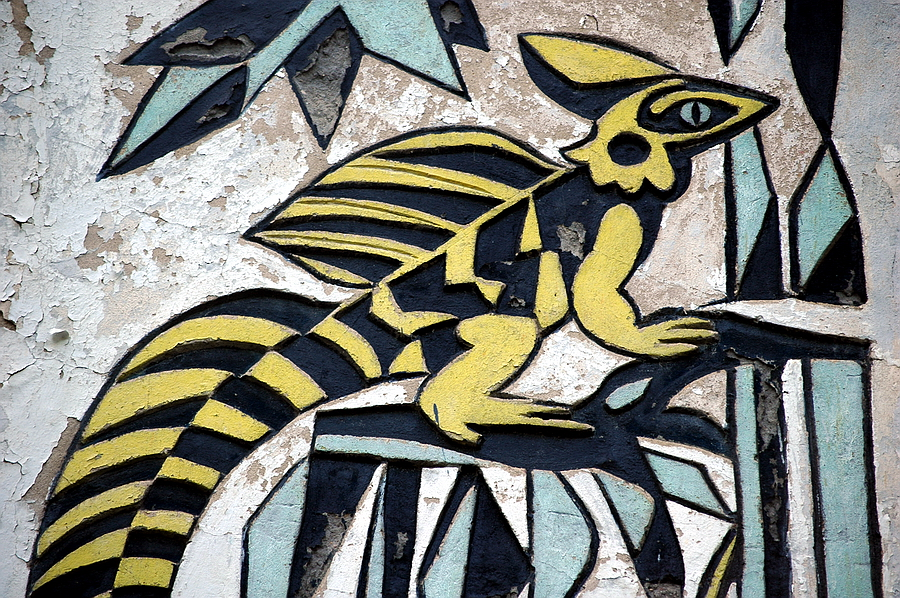 mural stare zoo
