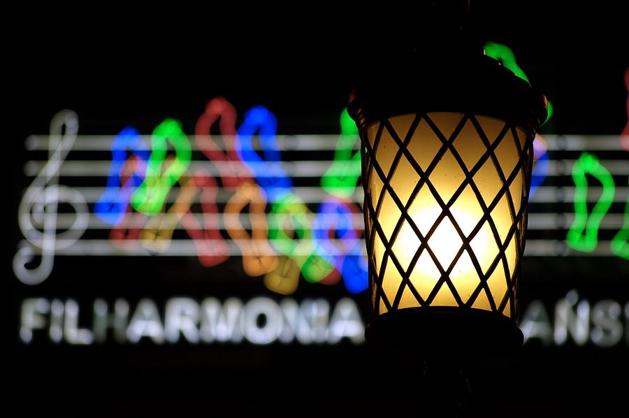neon filharmonia poznan