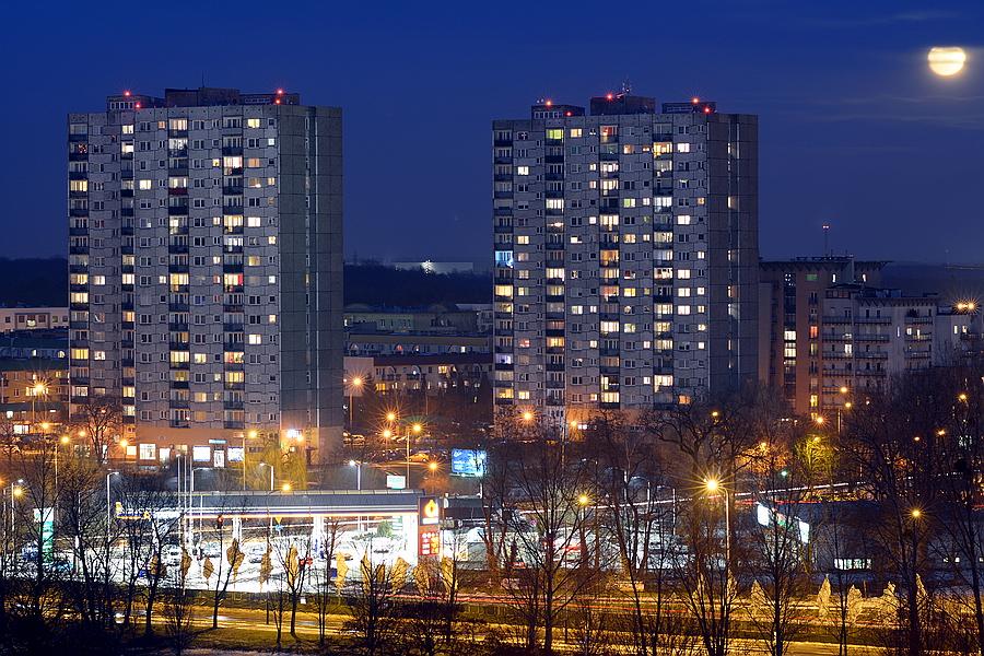 Wieżowce Osiedle Rusa Poznań