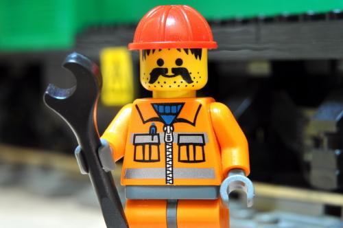 LEGO RAILWAY WORKER